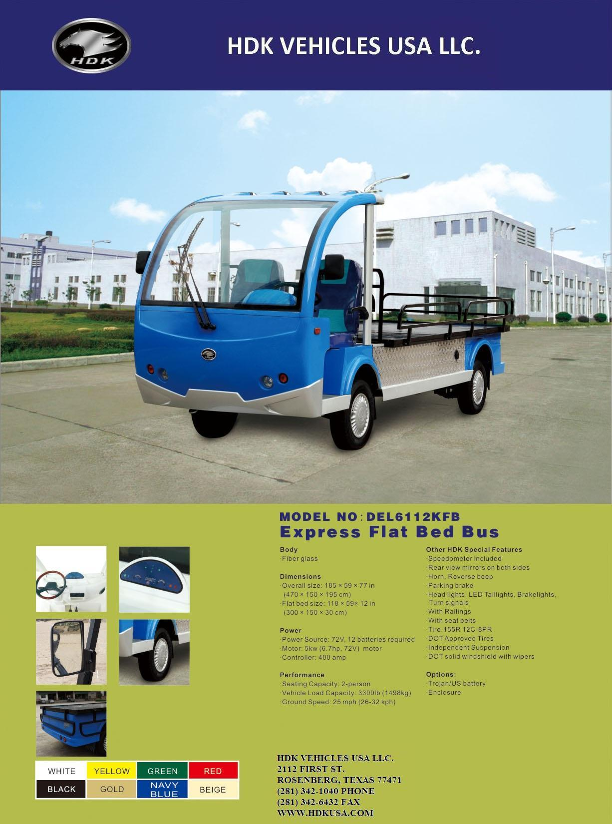 Electric Vehicles: Hdk Electric Vehicles on